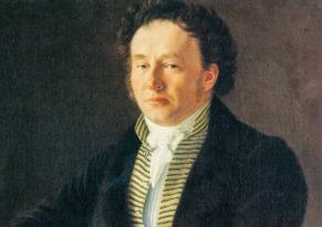 Louis Spohr. Gemälde von Johann August Nahl, 1824