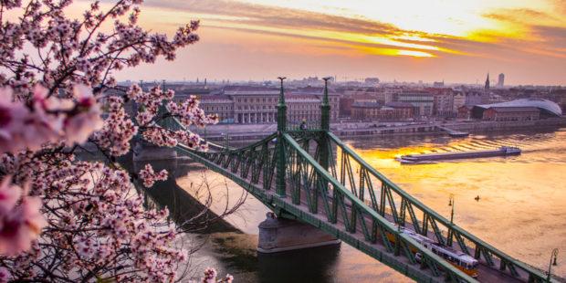 Budapest, Stadtansicht mit der Friedensbrücke