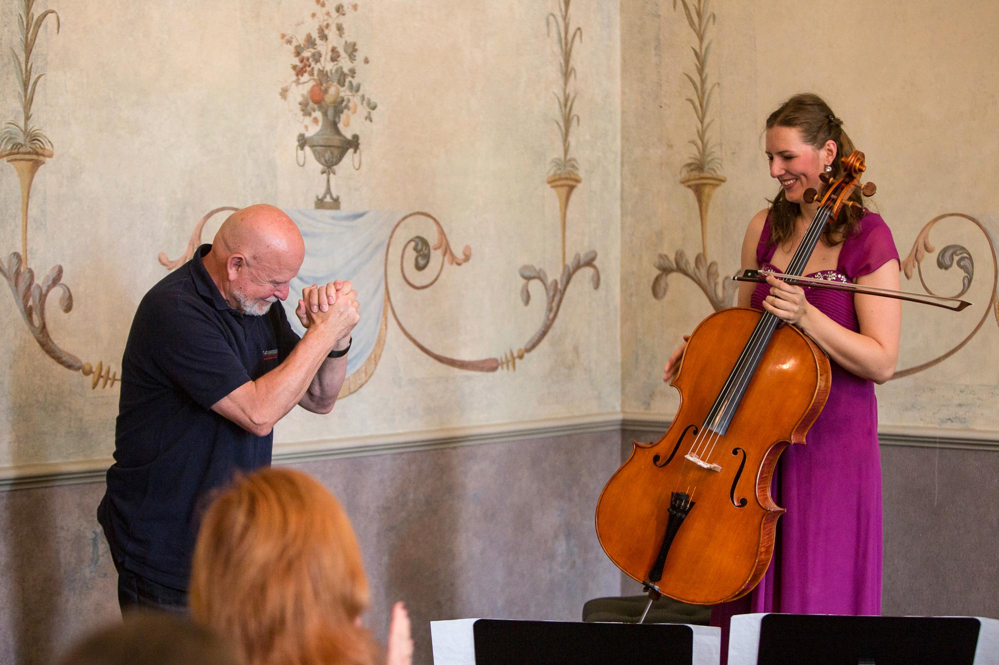 Dem Komponisten Pēteris Vasks (l.) ist ein eigenes Festival gewidmet