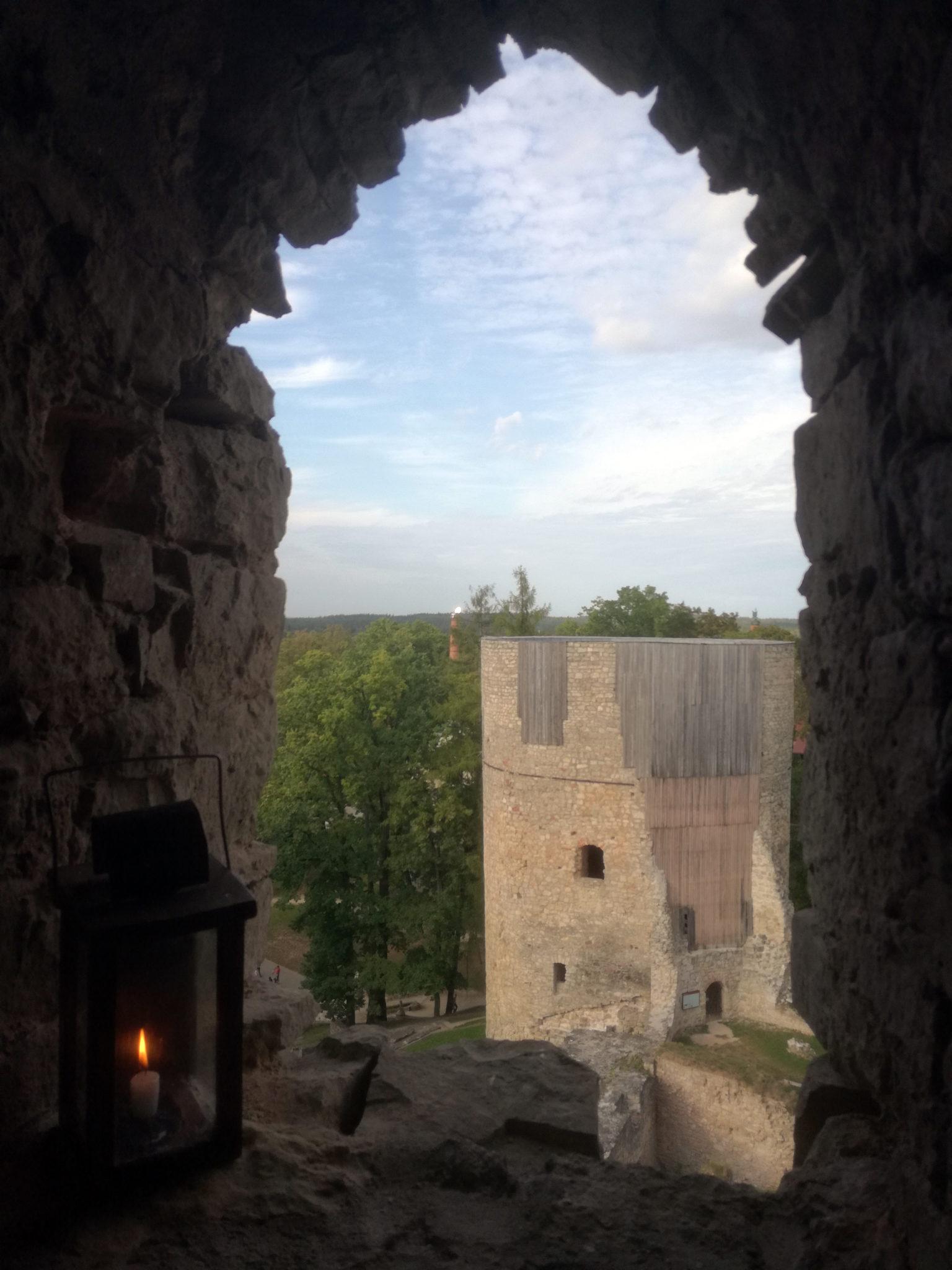 Ruine der Deutschordensburg in Cēsis