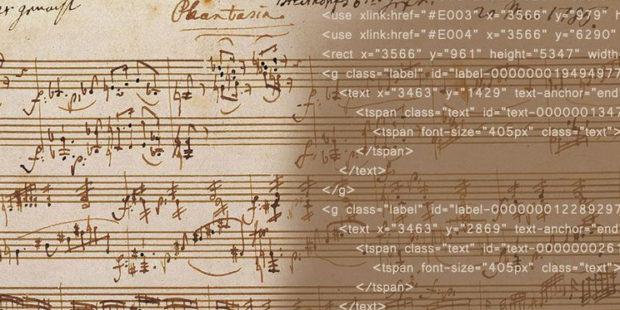 Digital-interaktive Mozart-Edition: Autograf und Quellcode zur Fantasie c-Moll KV 475