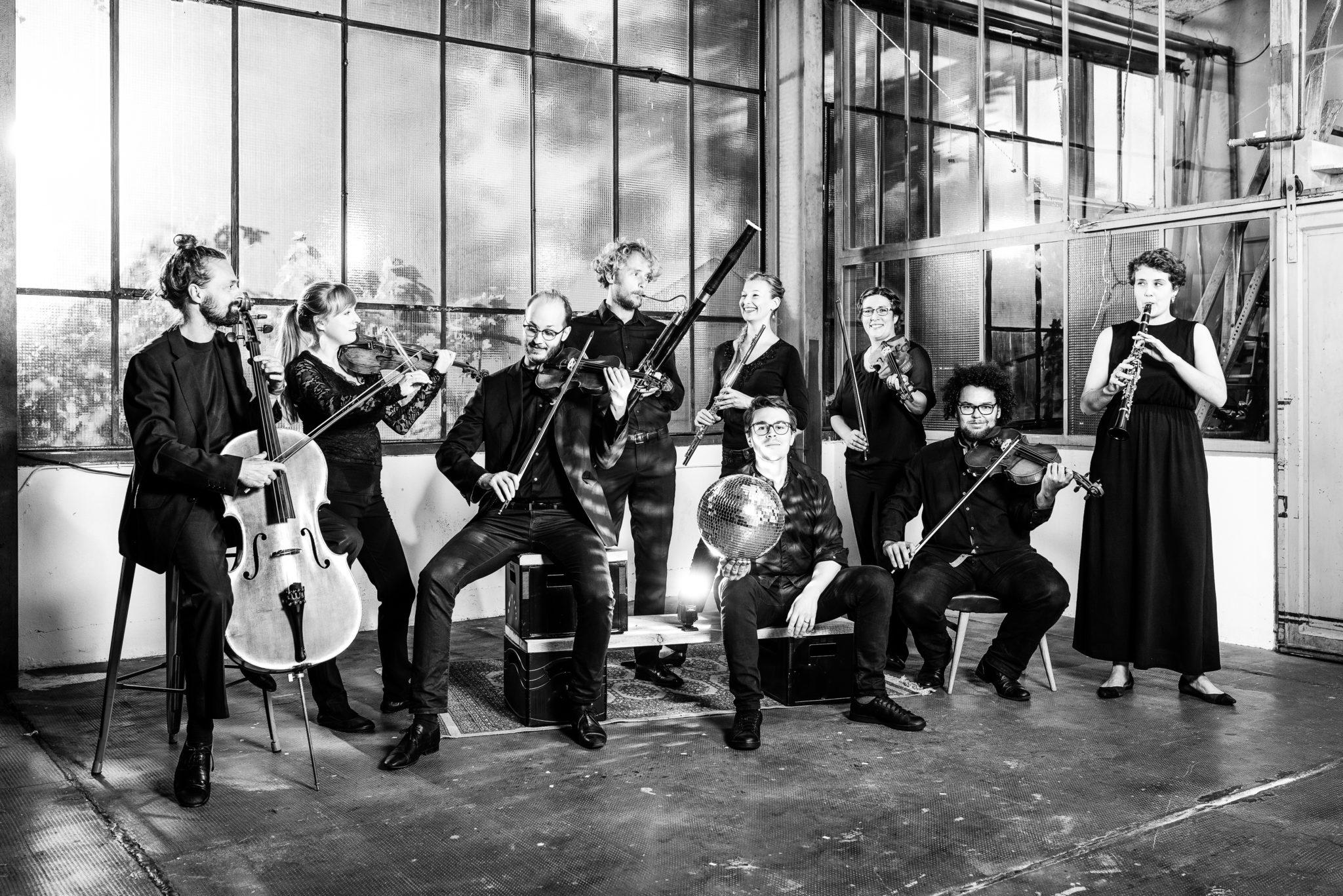 Orchester im Treppenhaus