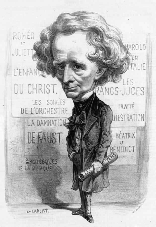 Hector Berlioz, Karrikatur von Étienne Carjat, 1863
