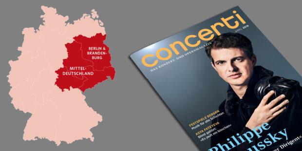 Lieferschwierigkeiten bei den concerti-Ausgaben Mitteldeutschland und Berlin & Brandenburg