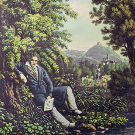 Beethoven am Bache die Pastorale komponierend
