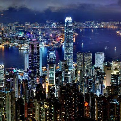 Die chinesische Stadt Hong Kong.