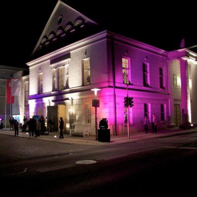 Theater Putbus bei Nacht
