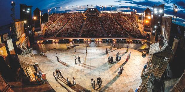 Die Bühne der Seefestspiele Mörbisch