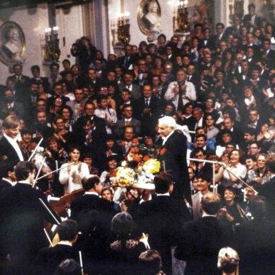 An Heiligabend 1989 dirigierte Leonard Bernstein zwei Festkonzerte in Berlin