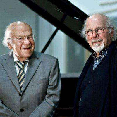"""Als ehemalige Leiter haben auch sie die """"musica nova"""" zu dem gemacht, was sie heute ist: Karl Michael Komma (li.) und Veit Erdmann-Abele"""