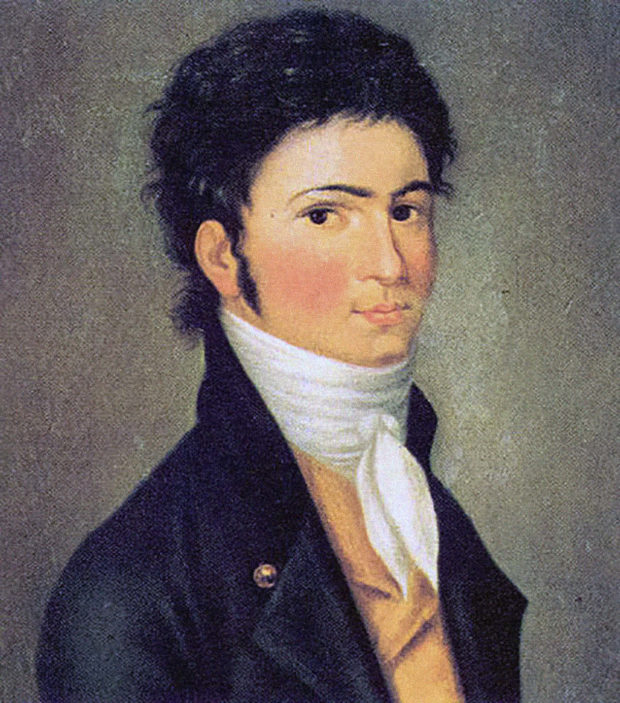 Beethoven im Alter von dreißig Jahren: Porträt von Carl Traugott Riedel