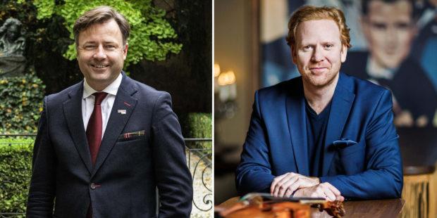 Zwei Schlüsselfiguren des Beethoven-Jahres und unsere Gesprächspartner – der Direktor und der Präsident des Beethoven-Hauses: Malte Boecker (l.) und Daniel Hope (r.)