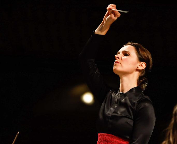 Oksana Lyniv dirigierte mit sechzehn Jahren erstmals ein Orchester