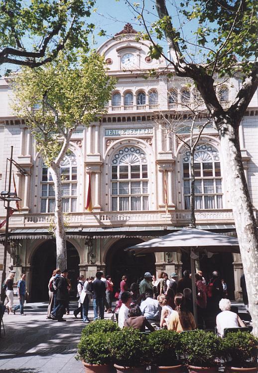 Außenansicht des Gran Teatre del Liceu