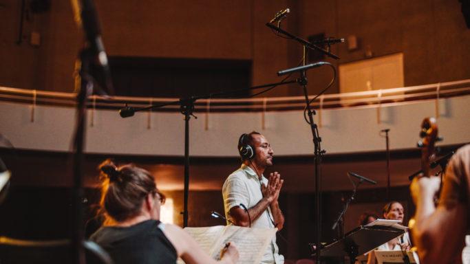 Das Ensemble Resonanz bei der Aufnahme ihres Mozart-Albums