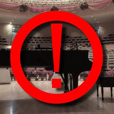 Absagen von Konzerten und Opernaufführungen