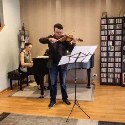Musikalischer Gruß aus dem Zuhause in Chicago: Vadim Gluzman und Angela Yoffe bei #deinconcertiabend