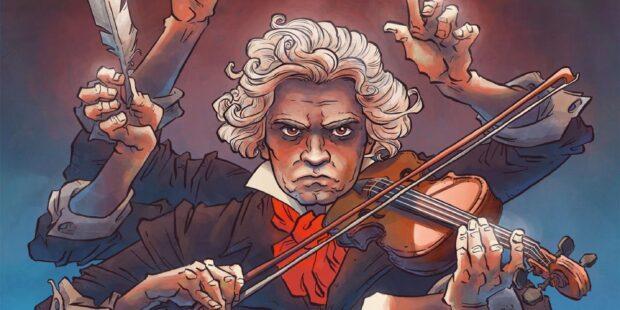 "Das Cover zu Peer Meters Graphic Novel ""Beethoven"""