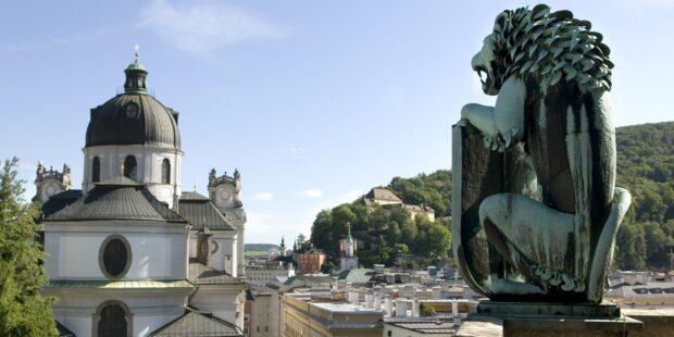 Aussicht auf Salzburg vom Festspielhaus