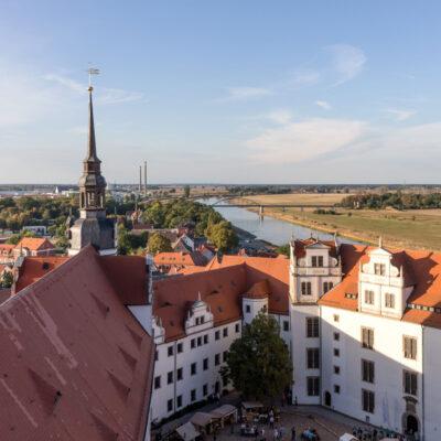 Torgau mit Blick auf die Elbe