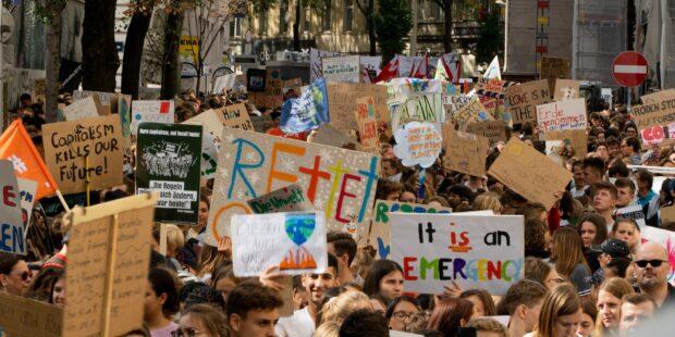Demonstration zum Klimaschutz