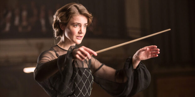 "Christanne de Bruijn als Antonia Brico im Film ""Die Dirigentin"""