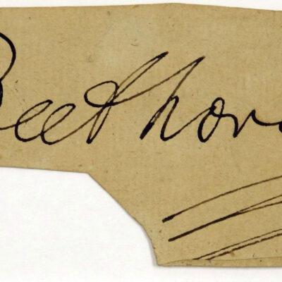 Autogramm Beethovens