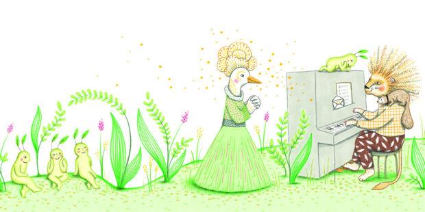 """Beethovens """"Für Elise"""": Die französische Künstlerin Delphine Renon hat die großen Musikwerke in """"Mein kleines Klangbuch"""" fantasievoll illustiriert."""
