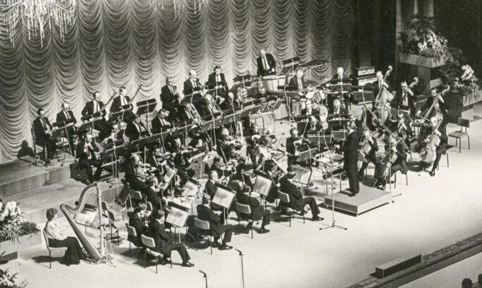 Erholung für die Kumpels unter Tage: Orchester der IG Wismut