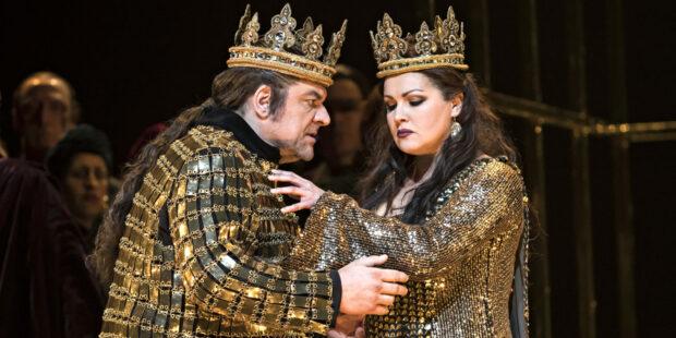 Željko Lučić und Anna Netrebko als Ehepaar Macbeth