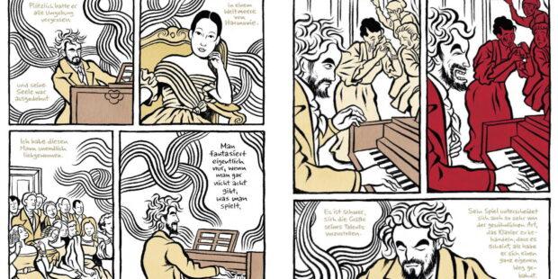 """Beispielseite aus der Graphic Novel """"Mythos Beethoven"""""""