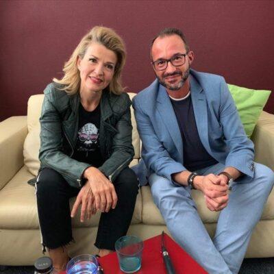 Anne-Sophie Mutter mit Moderator Holger Wemhoff