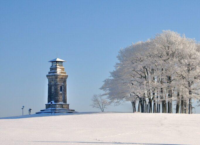 Beliebtes Ausflugsziel in Markneukirchen: Die Bismarcksäule