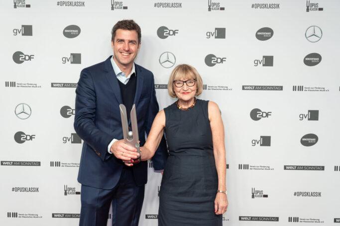 Matthias Schulz und Regina Lux-Hahn bei der Verleihung des OPUS KLASSIK 2020 in Berlin