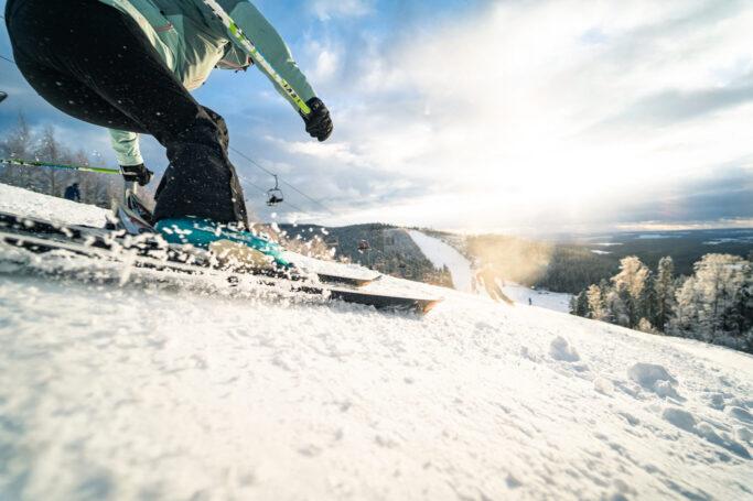 Skifahren im Wintersportzentrum Schöneck