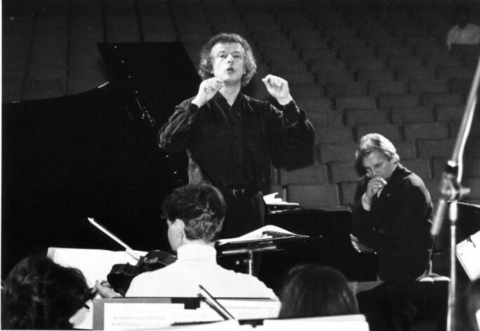 """Udo Zimmermann bei den """"Tagen des zeitgenössischen Musiktheaters"""" der Oper Leipzig im Mai 1992"""