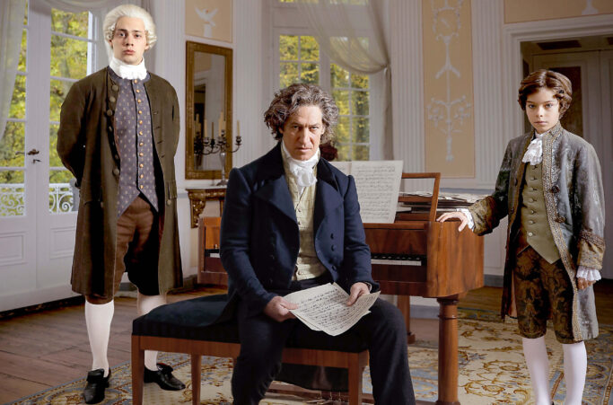 Dreimal Beethoven: Anselm Bresgott, Tobias Moretti und Colin Pütz (v. l. n.r.)