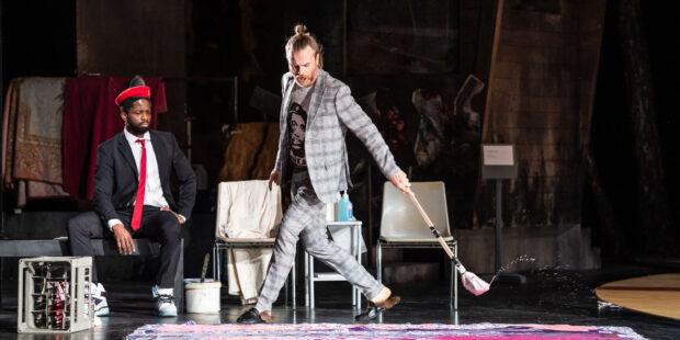 Bernard Richter (Titus) und Justin Hopkins (Publio)