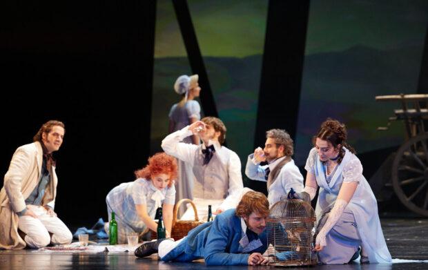 "Szene aus ""Schuberts Reise nach Atzenbrugg"" am Gärtnerplatztheater"