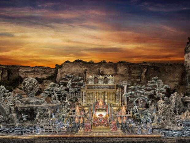 """Das spektakuläre Bühnenbild für """"Turandot"""""""