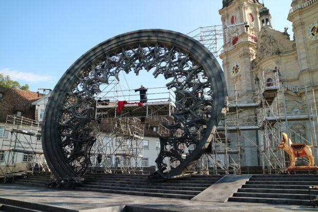 Das aufwendige Bühnenbild der St. Galler Festspiele 2021
