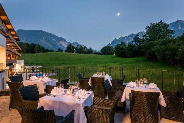 Die Terrasse des Klosterhof - Alpine Hideaway & Spa