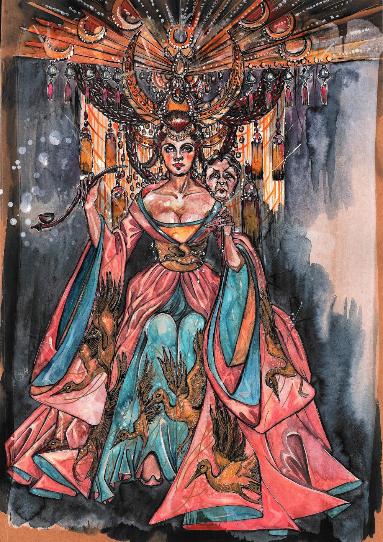 Kostümentwurf für Turandot