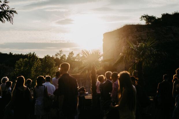 Abendstimmung über dem Festivalgelände