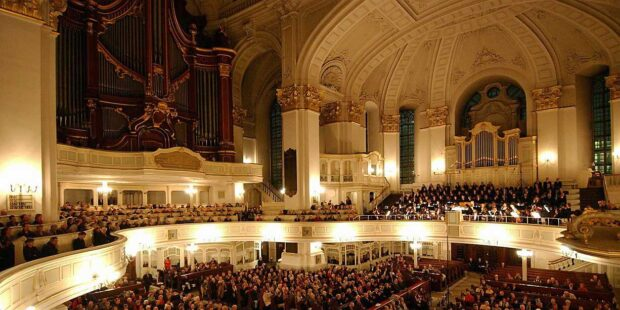 Konzertatmosphäre in Hamburger Michel