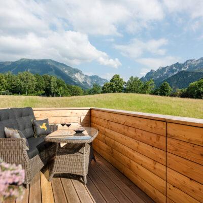 Panoramabalkon im Klosterhof Alpine Hideaway & Spa
