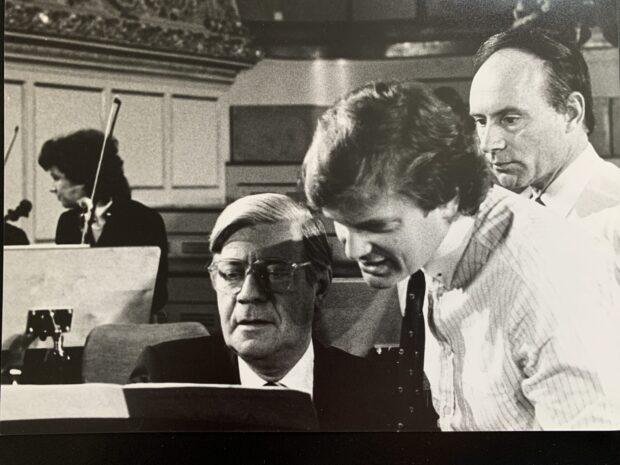 Helmut Schmidt, Justus Frantz und Christoph Eschenbach
