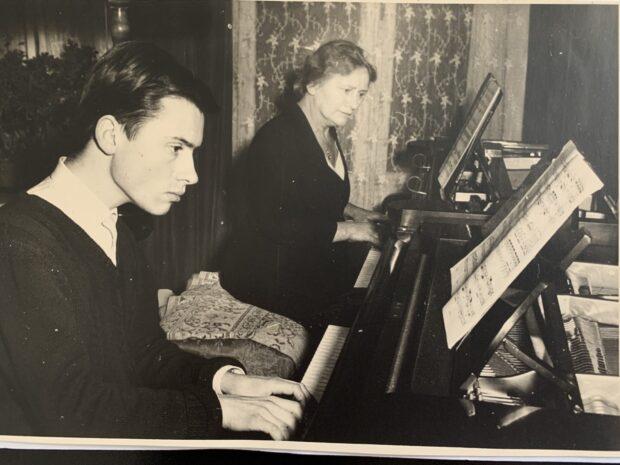 Christoph Eschenbach mit seiner zweiten Mutter Wallydore