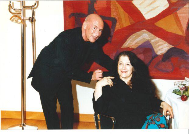 Christoph Eschenbach mit Martha Argerich beim SHMF 2002