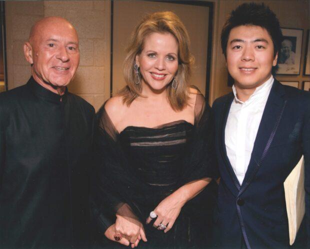 Christoph Eschenbach mit seinen Protegés Renée Fleming und Lang Lang